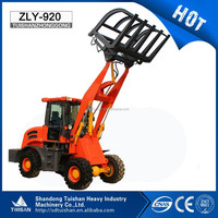 CE Approved 2ton Front End Wheel Loader with wood grapple