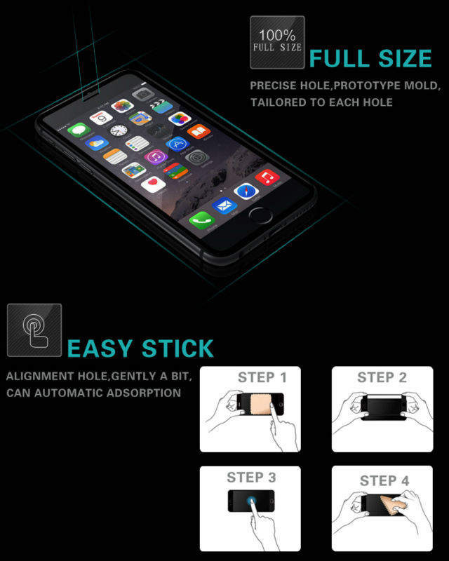 100% Full Screen Prefect Size 2.5D 9H Premium Tempered Glass screen protector for iPhone 6 / 6 plus mobile phone accessory