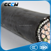 Armored underground power cable with low voltage