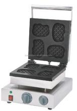 Commercial Hello Kitty Head Shape Grid Waffle Baker Machine / Special Shape Waffle Maker / Cartoon Waffle Iron