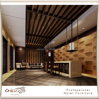 Luxury hotel wooden reception counter for sale