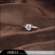Fashion Gold Plated 925 Sterling Silver Ring with Zircon