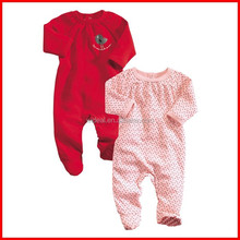 2015 wholesale Spring & Summer knitted infant romper/baby sleepsuit with prints
