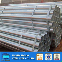 ASTM A 53 GRADE A B /BS1387 welded and seamless galvanized steel pipe with thread