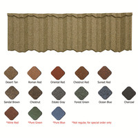 dark grey high quality metal stone coated roof tile