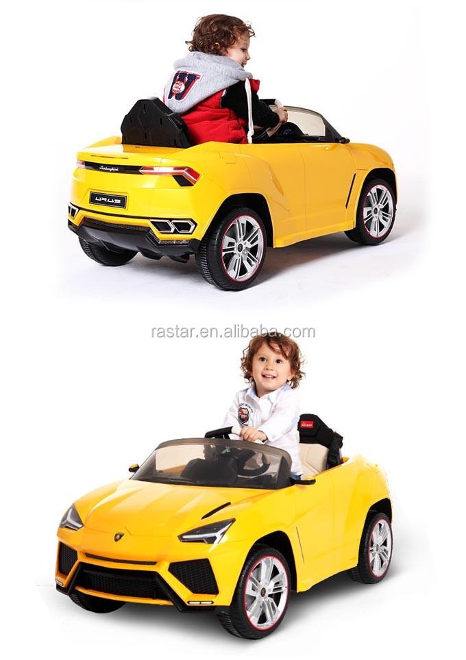 rastar date licesned 12 volts lectrique voiture jouet lamborghini urus voiture lectrique pour. Black Bedroom Furniture Sets. Home Design Ideas