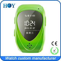 GPS Smart Tracker SOS Wrist Watch Phone for Kids Children with 2 Family Numbers Call Green