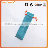 2014 top quality custom velvet gift pen bag/pouch