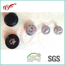 4 Parts snap button with rubber cap