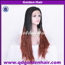 New Style Ombre Two Tone Color 100% Kanekalon Hair Braided Synthetic Wig
