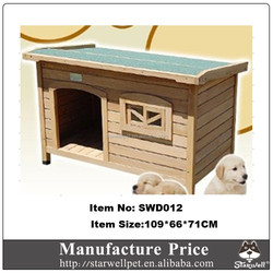 Manufacture price waterproof roof decorative wooden dog kennel