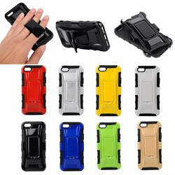 Hybrid PC + TPU hard case for apple iphone 5/5s, for iphone 5/5s case with kickstand