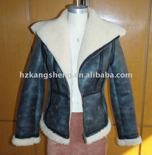 2012 100% GUARANTEED LADIES GENUINE SHEARING JACKET,Shearing Lamb Double-Face Fur COAT,Toscana skins shearing coat