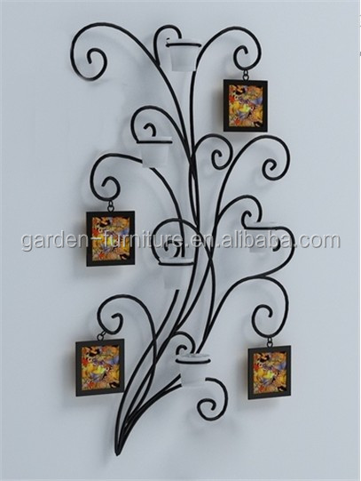 Maison mural d coratif accroch metal art en fer forg for Decoration murale arbre de vie
