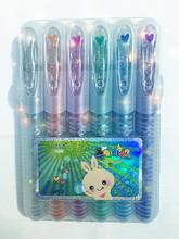 Glitter Gel pen tattoo gel pen-6 colors in pp box