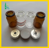 10ml amber sterile glass bottle for steroids with silicon rubber stopper and flip off cap