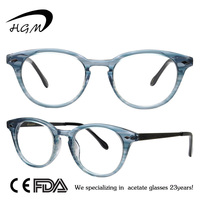 Fashion Light Frame By Acetate With Metal Temple Frame Glasses For Eyewear