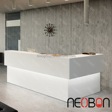 White beauty solid surface Spa hair salon counter reception for salon/salon reception desk counter for hotel