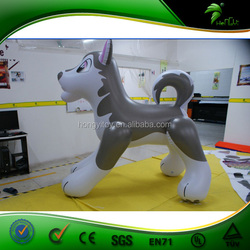 Lovely Big PVC Inflatable Cartoon Wolf / Inflatalbel Wolf Animals For Sex