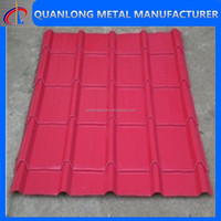 color coated corrugated galvanized zinc iron/steel roof sheets