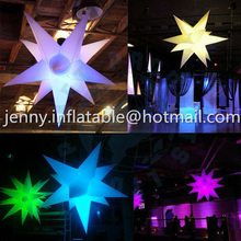 ceiling decoration inflatable star with led light