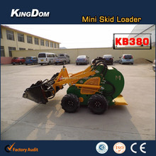 KB380 series mini wheel loader used as tractor,nimble mini articulated loader for farm/garden/agriculture