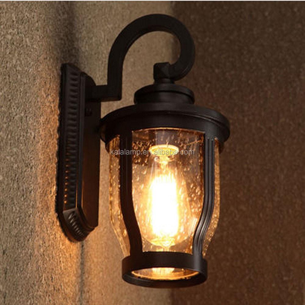 Bola de vidro da lumin ria l mpada led colorido luz Lamparas para exteriores modernas