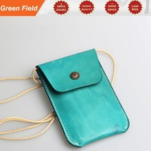 Cell phone leather pouch, cell phone leather pouch with neck lanyard