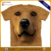 Wholesale animal 3d printing t-shirt, custom new model 3d t shirt from china