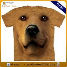 Wholesale animal 3d printing t-shirt, custom new model 3d t shirt from china