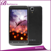 Quad-core 5MP camera 5.5inches touch screen in stock free shipping mobile phone