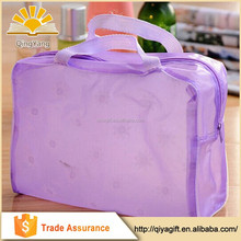 wholesale plastic bag with zipper and promotional recycle pvc cosmetic bag