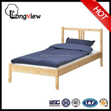 factory price solid pine wood IKEA single bed,latest modern design wooden bed,popular bed design furniture made in China