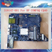 Free Shipping AMD Mainboard For HP COMPAQ CQ40 Laptop Motherboard 518147-001 Tested OK