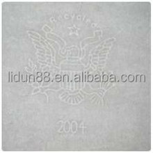 75% cotton paper with custom watermark/watermark security thread paper