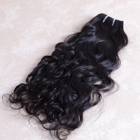 Machine weft unprocessed peruvian hair weaving natural wave 3 packs 22inch top quality hair