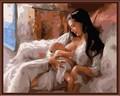 venda quente presente ofício de coloração por números diy artesanato no atacado mulheres nuas de mãe e filho gx6402
