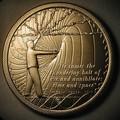 antique ronda de metal de encargo medallón medalla