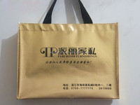 China wholesale PP reusable non woven grocery ladies laminated shopping convention gold tote bag