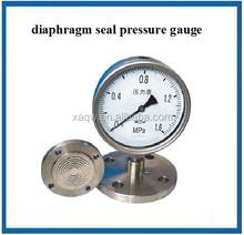 Bourdon tube sanitary pressure gauge with diaphragm seal