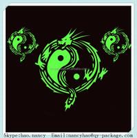glow in the dark paint sticker glow in the dark dragon