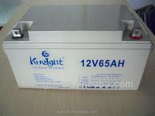 High quality 12v 65ah gel battery/ 12v 65ah electric car battery