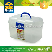 Transparent large wholesale plastic containers for tool and medicine