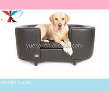 beautiful Chester & Wells Hampton Faux Leather Dog Bed