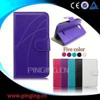 factory price wallet leather flip case for samsung galaxy note 2 ii