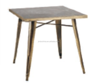 high quality garden table, solid wood top & power coated leg