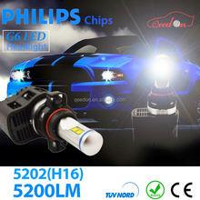Qeedon good quality all in one car headlight bulbs led bulb h7 turn signal lights