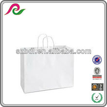 16x6x12 White Vogue Shopping Gift Paper Bags / Retail / Wholesale Case Bags