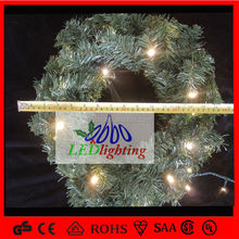 2014 xmas wreath with warm white led lights