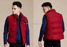 2015 Wholesale men's fitted winter cotton vest
